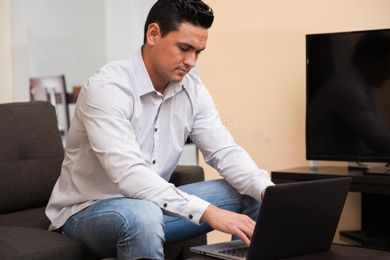 Telecommuting At Home Stock Photo