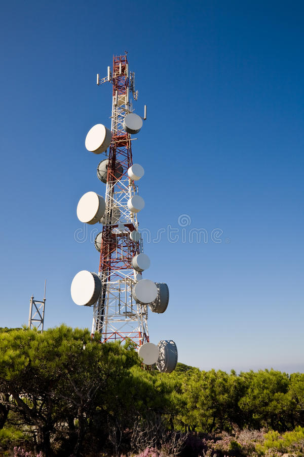 Download Telecoms Mast stock image. Image of pole, mobile, signal - 23812687