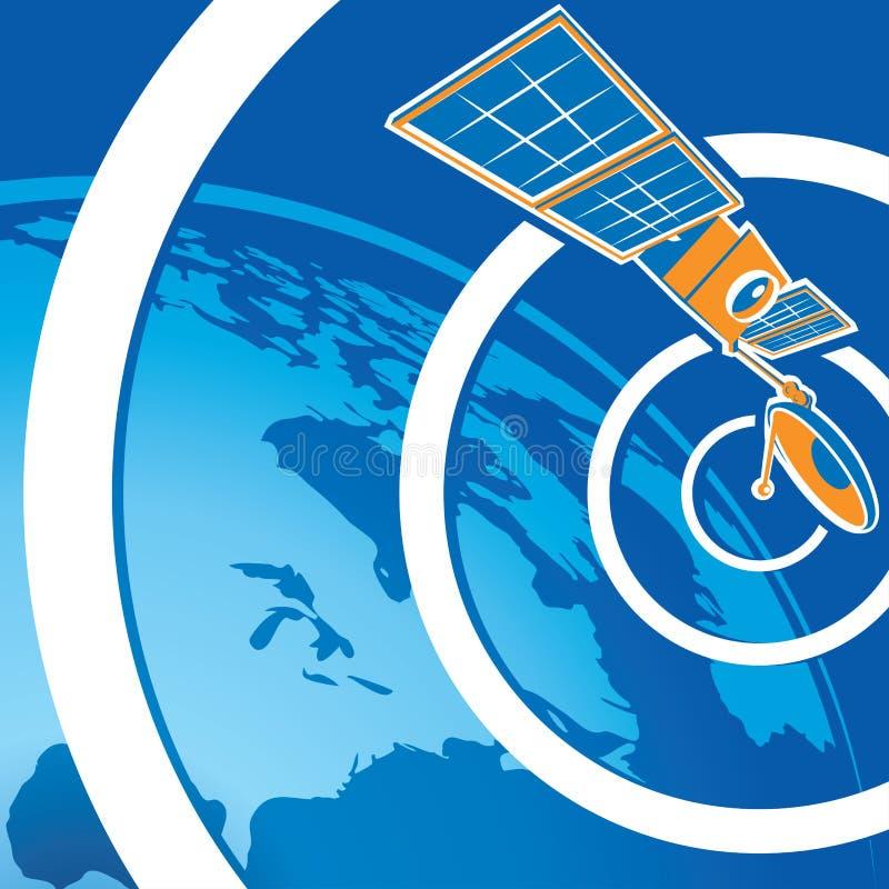 Telecomunicações satélites ilustração do vetor