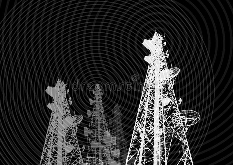Telecomunicaciones 01 ilustración del vector