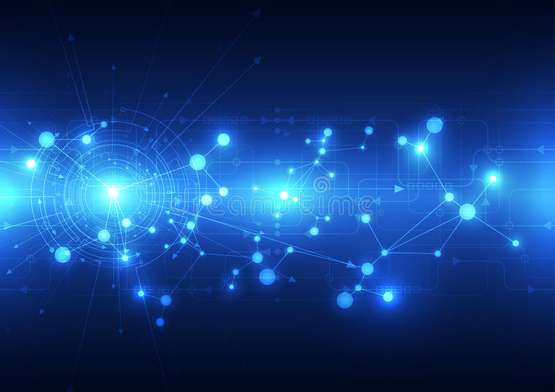 Telecomunicaciones futuras abstractas fondo, ejemplo de la tecnología del vector stock de ilustración