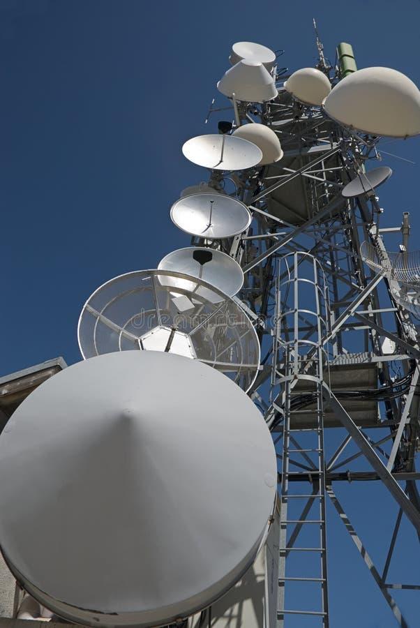 Telecomunication tower royalty free stock photography