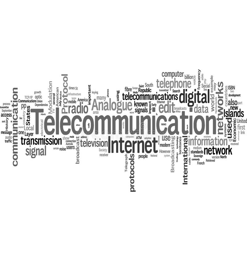 Telecomunications vector illustratie