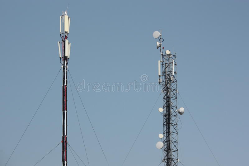 Telecomunications antennas royalty free stock image