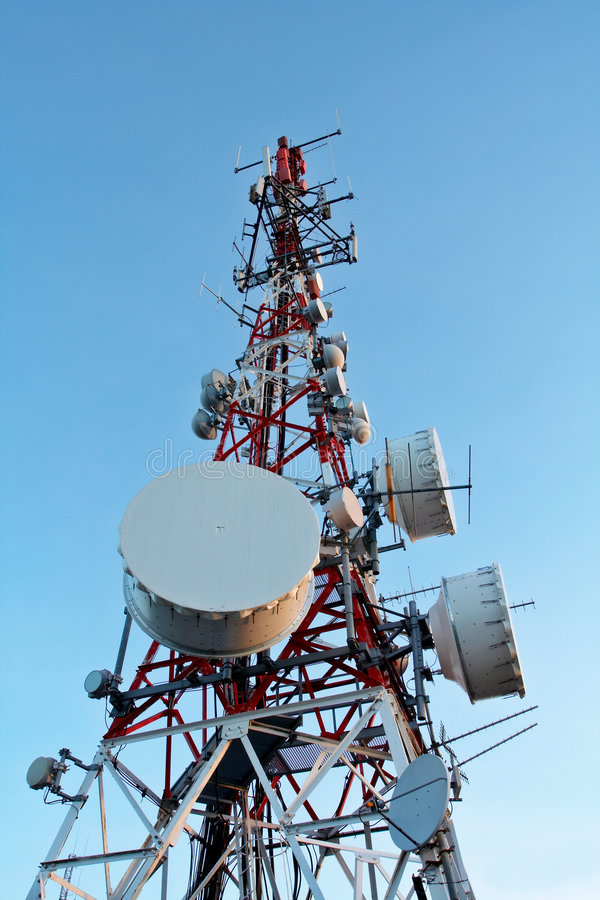 Telecomunications antennas stock images