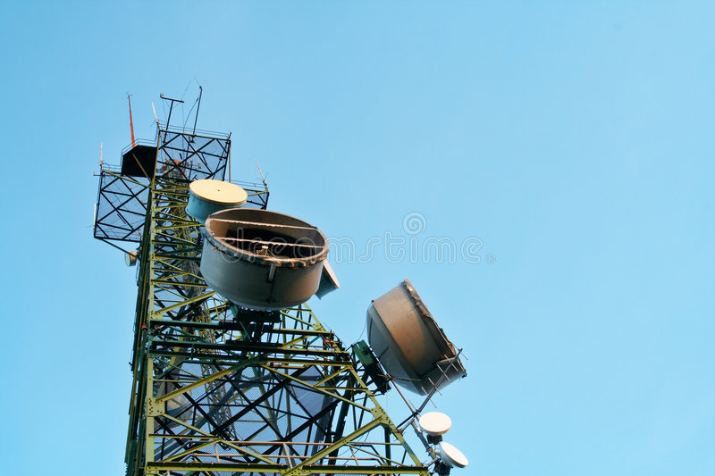 Telecomunications antennas royalty free stock photo