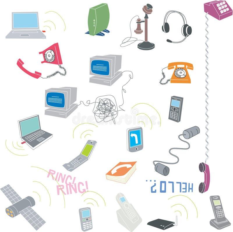 Telecomunicazione illustrazione vettoriale