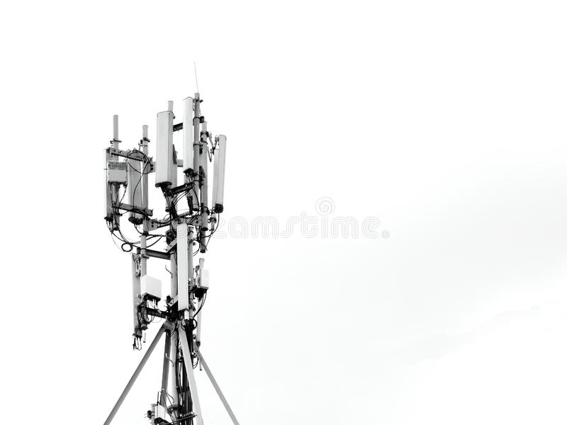 Telecomunicazione mobile di Internet dell'antenna fotografia stock libera da diritti