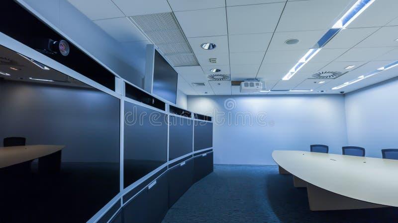 Teleconferencing-, Videokonferenz- und Telepresencegeschäft mee stockbilder