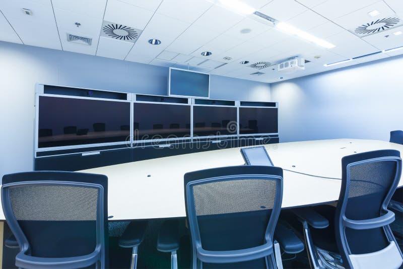 Teleconferencing-, Videokonferenz- und Telepresencegeschäft mee stockfotos