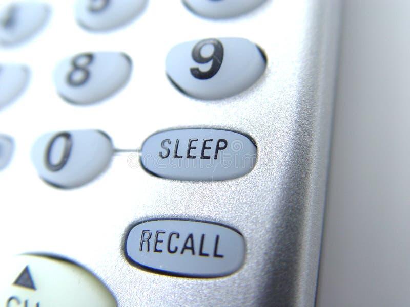Telecontrol Con El Botón Del Sueño Fotos de archivo