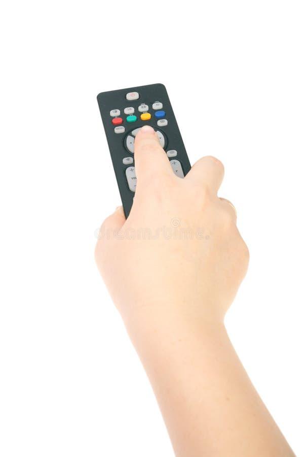 Telecontrol negro de la TV fotos de archivo