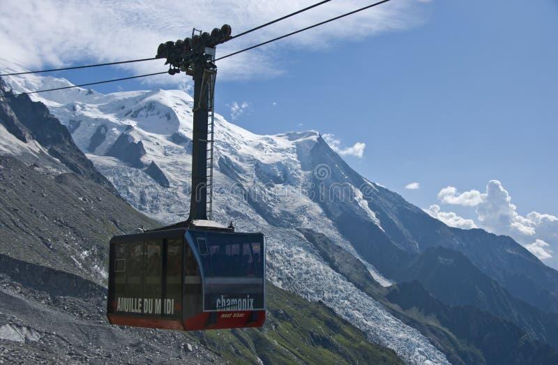 Teleférico de Chamonix foto de stock royalty free