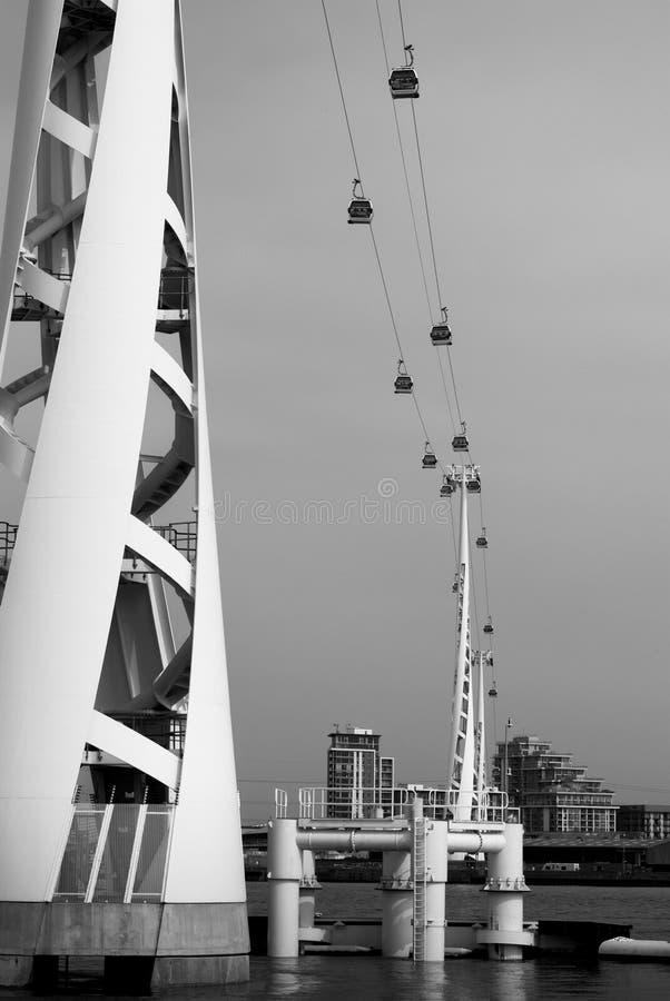 Teleférico de Londres imagens de stock