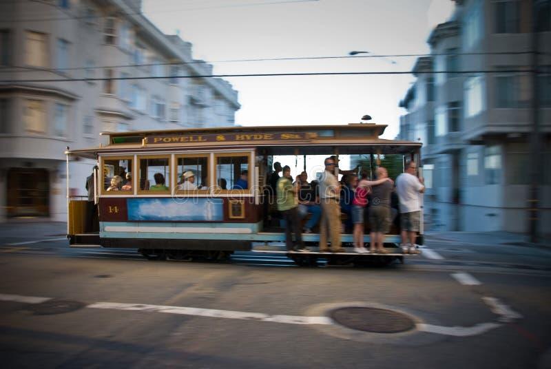 Teleférico de San Francisco en el movimiento fotos de archivo libres de regalías