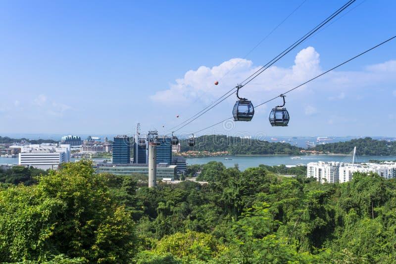 Teleférico de Singapura imagem de stock royalty free