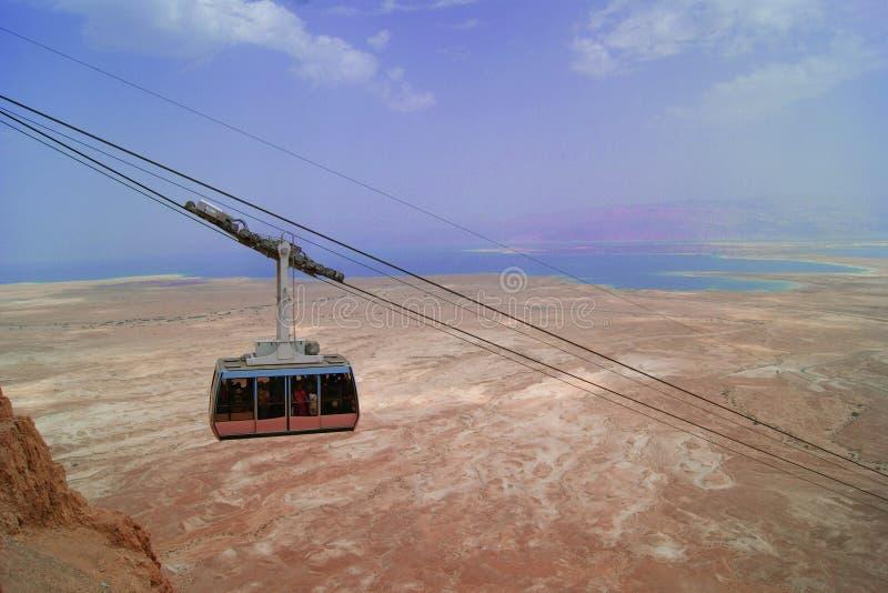 Teleférico do Mar Morto a Massada, Israel foto de stock royalty free