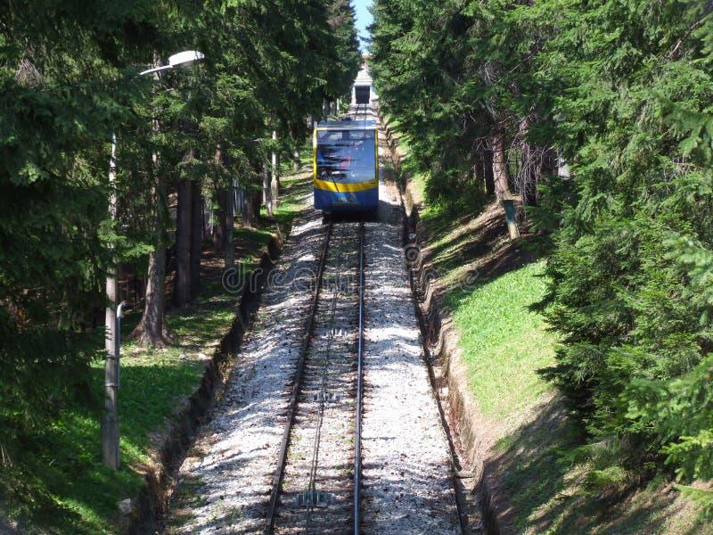 Teleférico do monte de Gubalowka em Zakopane no Polônia fotos de stock