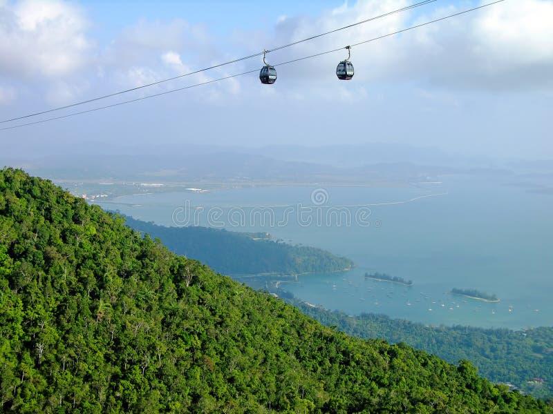 Teleférico do monte de Langkawi, Malaysia imagens de stock royalty free