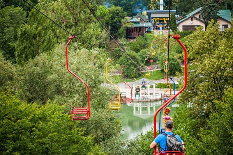 Teleférico do teleférico em Nalchik fotos de stock