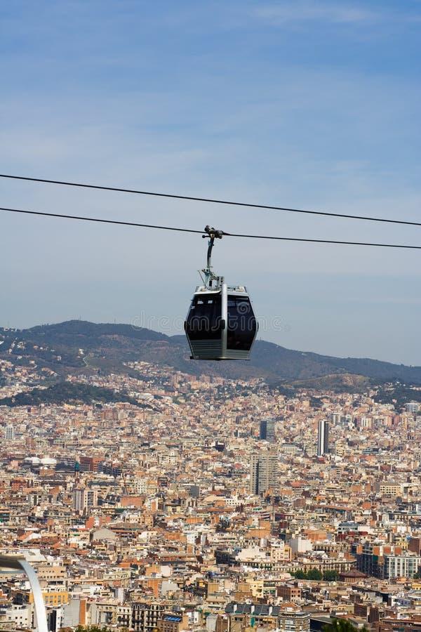 Teleférico em Barcelona fotos de stock