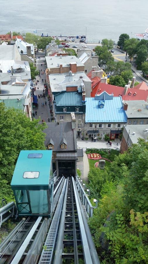 teleférico em Cidade de Quebec imagens de stock royalty free