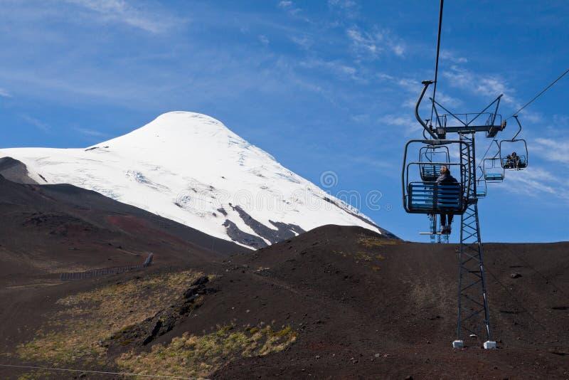 Teleférico en el volcán Chile de Osorno fotos de archivo