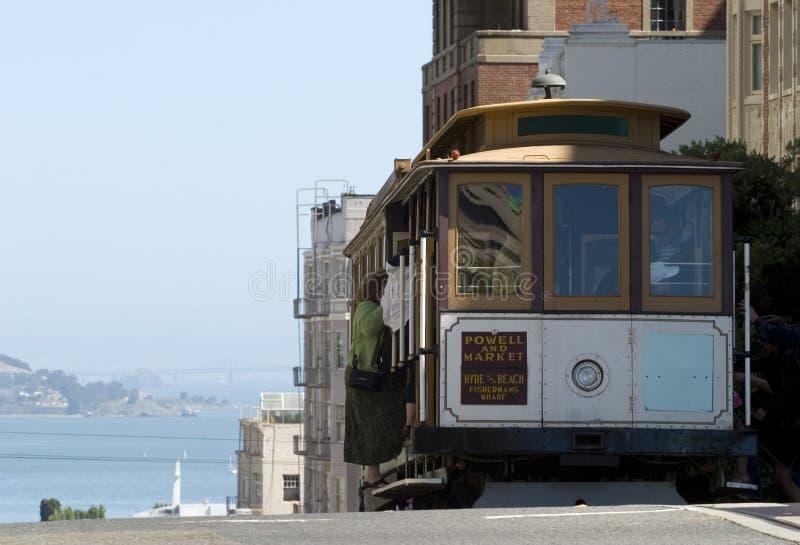 Teleférico en San Francisco fotos de archivo