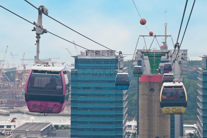 Teleférico en Singapur imagen de archivo libre de regalías