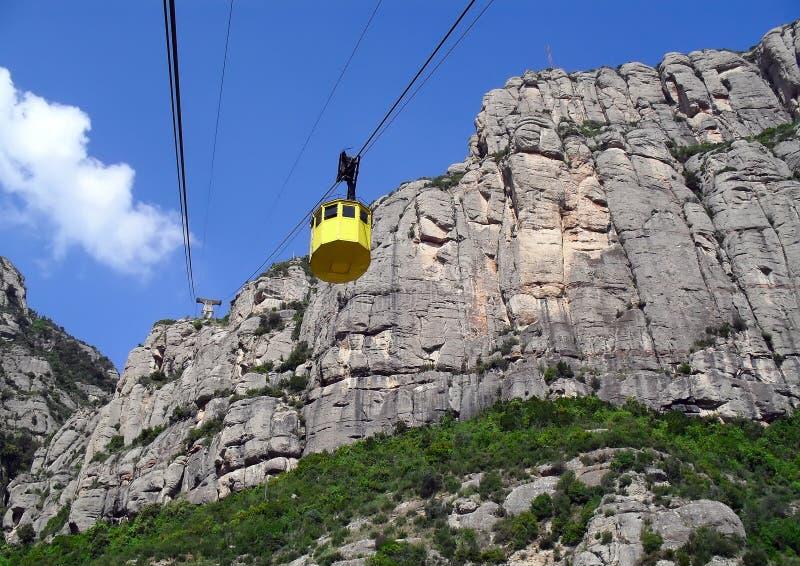 Teleférico a Montserrat imagem de stock
