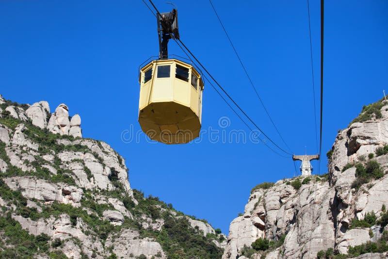 Teleférico a Montserrat Mountain fotos de stock