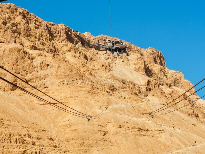 Teleférico para Masada fotografia de stock royalty free