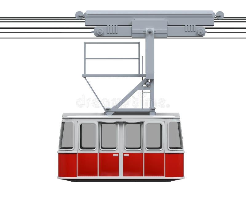 Teleférico rojo stock de ilustración