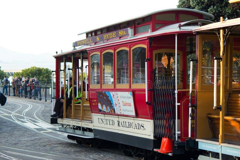 Teleféricos de San Francisco foto de archivo