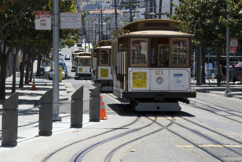 Teleféricos em San Francisco foto de stock royalty free