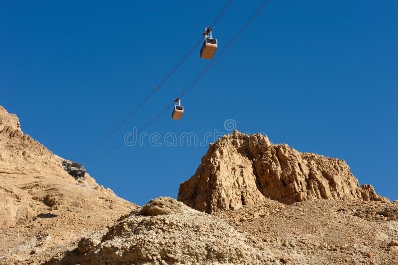 Teleferica a Masada. fotografie stock