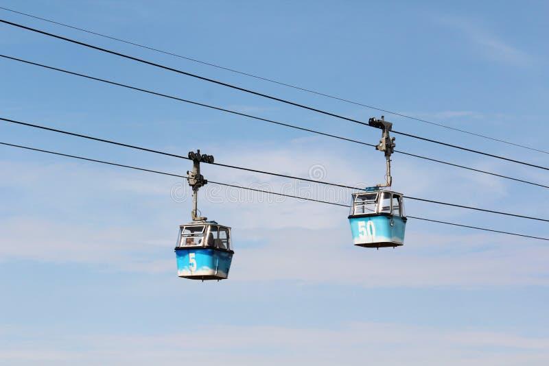 Teleferico De Madrid Cable Car, Spain royalty free stock photos