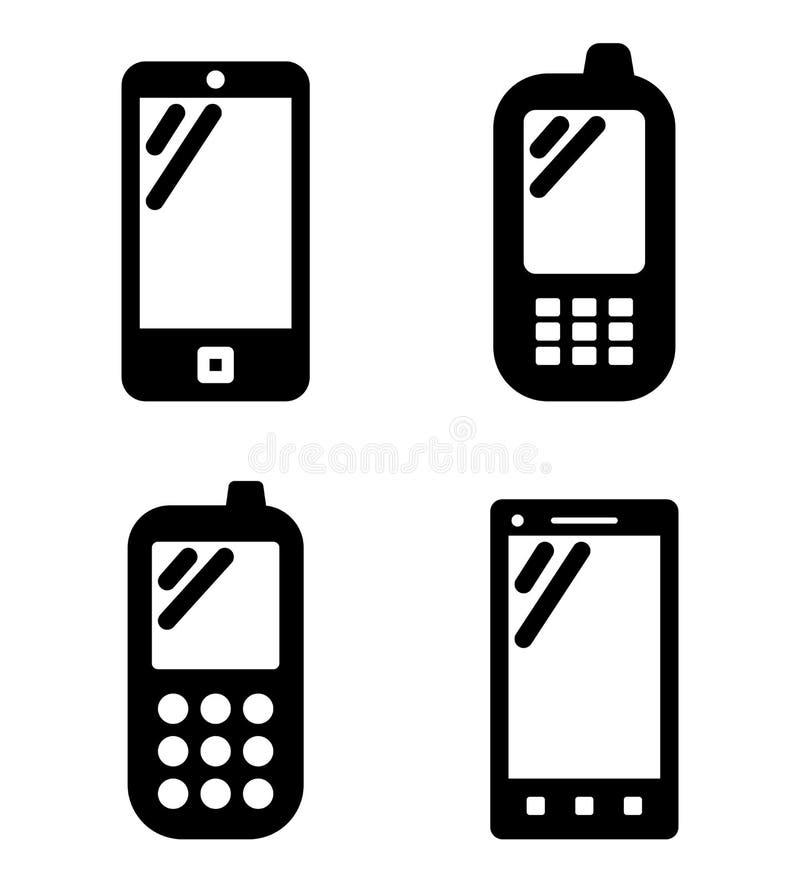 Telefonów komórkowych znaki royalty ilustracja
