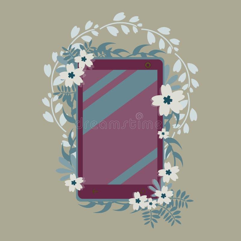 Telefonów kwiaty royalty ilustracja