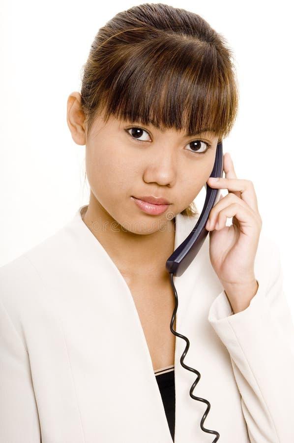 Am Telefon 2 lizenzfreies stockbild