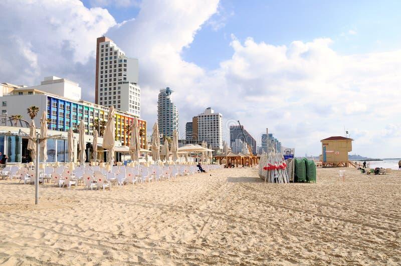 Telefon Aviv Beach stockbilder