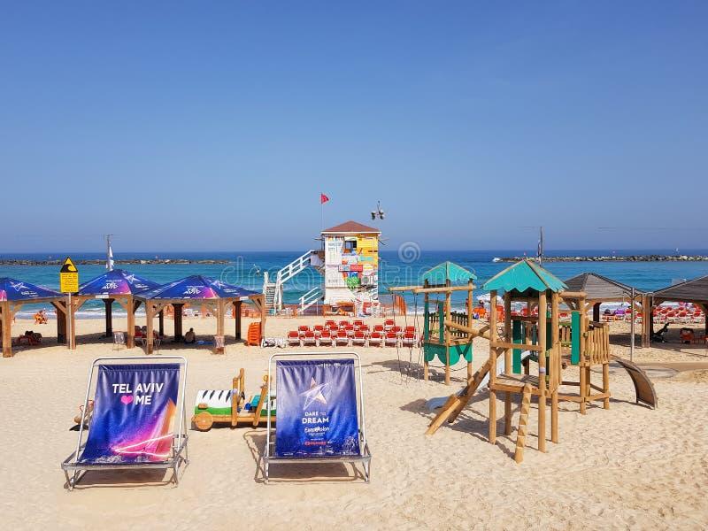 Telefon Aviv Beach E fotografering för bildbyråer