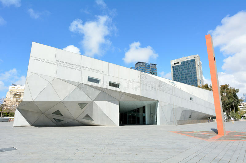 Telefon Aviv Museum av konst i Tel Aviv - Israel royaltyfria foton
