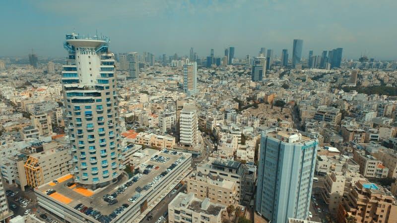 Telefon Aviv Skyline royaltyfri bild