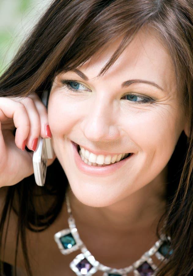telefon biała kobieta obraz royalty free