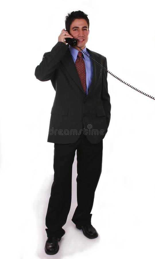 Download Telefon biznesmena obraz stock. Obraz złożonej z współpraca - 129927
