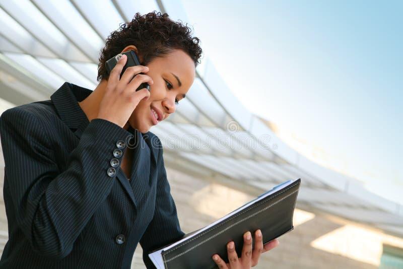 telefon biznesowa kobieta obraz royalty free