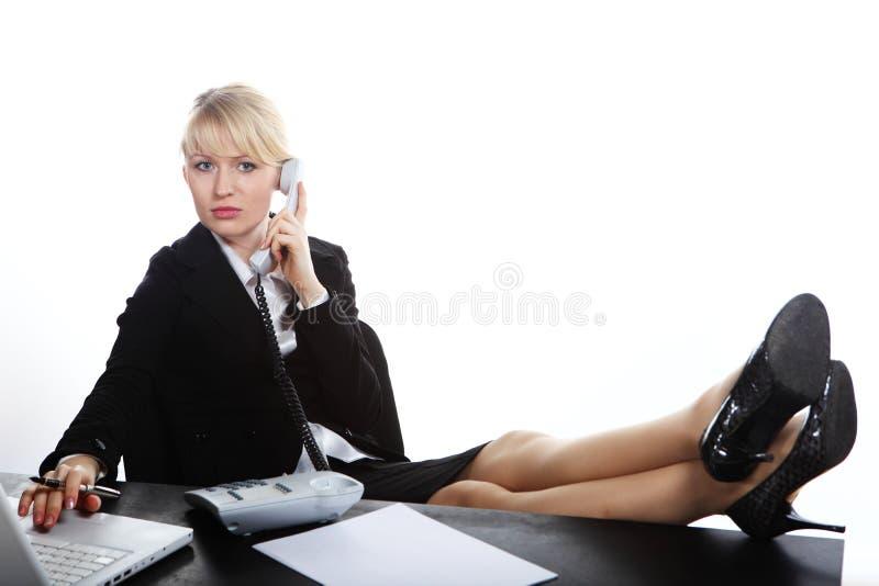 telefon biznesowa target1699_0_ kobieta fotografia stock