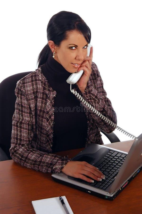telefon biznesowej kobieta zdjęcie royalty free