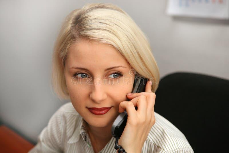 telefon bizneswomanu rozmowa fotografia royalty free